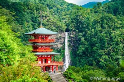 Japan Nachi Fall Waterfall Temple