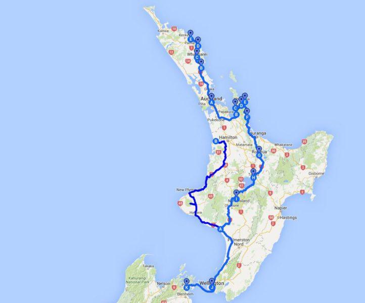 Route Norden Neuseeland