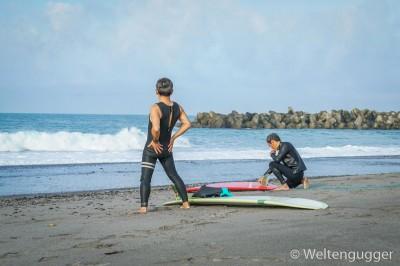 Surfers in Japan